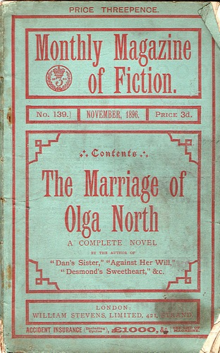 Image for The Monthly Magazine of Fiction: The Marriage of Olga North (No 139, November 1896)