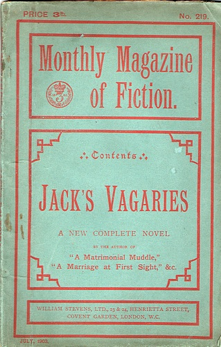 Image for The Monthly Magazine of Fiction: Jack's Vagaries (No 219, July 1903)