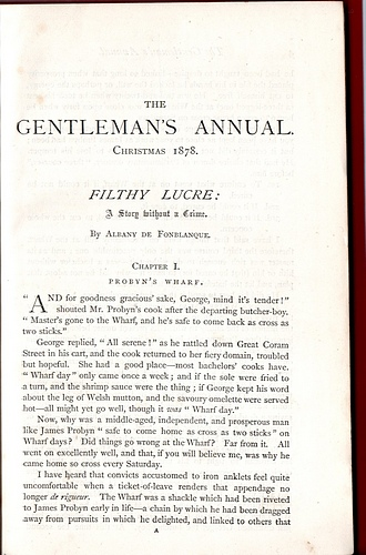 Image for The Gentleman's Annual, Christmas 1878: Filthy Lucre!