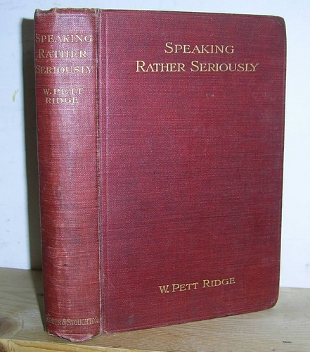 Image for Speaking Rather Seriously (1908)