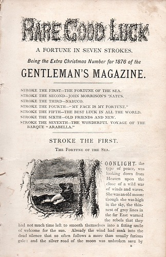 Image for The Gentleman's Magazine, Extra Christmas Number for 1876: Rare Good Luck