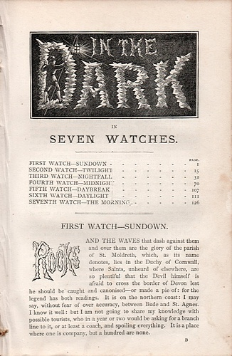 Image for R. E. Francillon's Christmas Number for 1877: In the Dark in Seven Watches