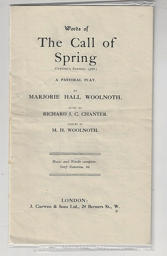 Image for The Call of Spring A Pastoral Play (1915)