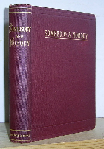 Image for Somebody and Nobody A Tale (1872)