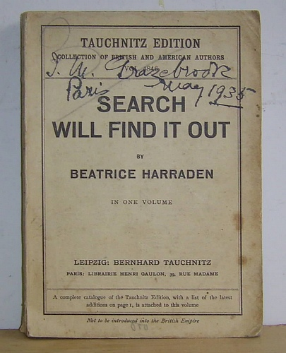 Image for Search Will Find It Out (1928)