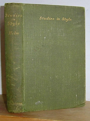 Image for Studies in Style (1900)