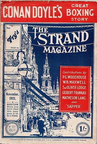 The Strand Magazine. Single Issue. Vol 62, No 371, November 1921