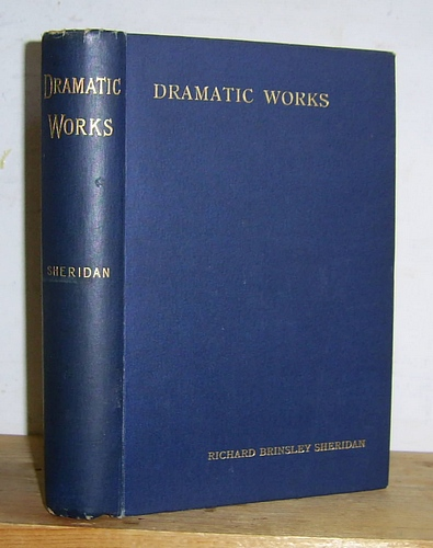 Image for The Dramatic Works of Richard Brinsley Sheridan