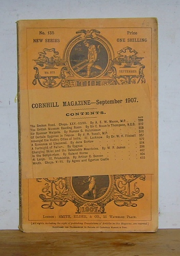 Image for The Cornhill Magazine, New Series, No 135, September 1907