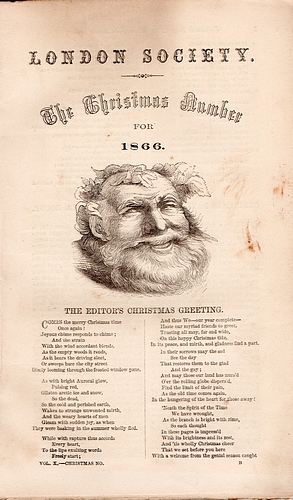 Image for London Society Christmas Number for 1866